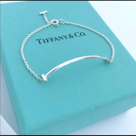fe5975940 Tiffany & Co. Jewelry | Auth Tiffanyco T Smile Bracelet | Poshmark